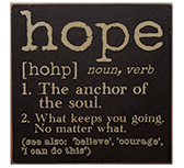 Hope Definition Sign