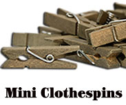 Mini Clothespins, 24-Piece Set