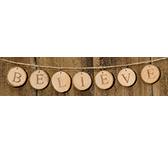 Believe Tree Tag Garland