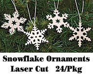 24/Set, Snowflake Ornaments