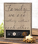 *Family Fabric Sign
