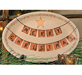 Merry Christmas Garland Tray