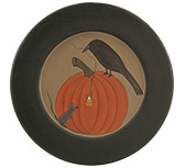 Crow & Mouse Pumpkin Plate