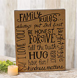Family Rules Box Sign