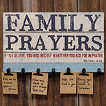 Family Prayers Board