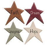 Colorful Star Word Magnets, 4/set