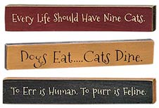 3/Set, Cats Dine Mini Sticks