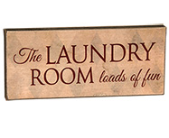 *Laundry Room Sign, Small, Asst.