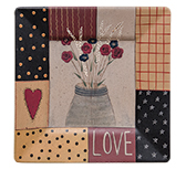 Patterned Love Square Plate
