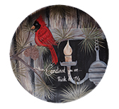 Cardinal You See Plate