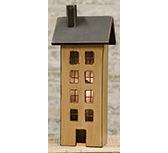 Primitive Saltbox House - Ivory