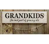 Grandkids Sign w/Clothespins