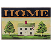 Colonial Home Sign