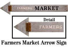 Farmers Market Arrow Sign