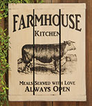 Farmhouse Kitchen Slat Sign