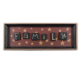 Family Tile Rectangle Tray