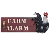 Farm Alarm Rooster Sign
