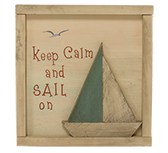 Keep Calm and Sail On Sign