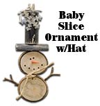 Baby Slice Snowman Ornament