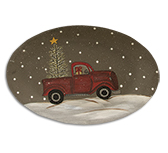 Winter Truck Oval Plate