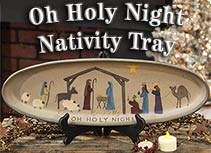 Holy Night Nativity Tray