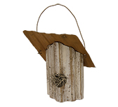 Ivory Birdhouse Ornament