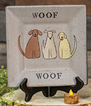 Woof Dog Plate