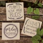 3/Set, Plants Are My Buds Signs