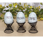 Faith, Family, Friends Eggs on Springs Box Set