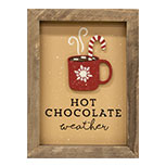 Hot Chocolate Framed Sign