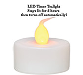 4/pk, LED Timer Tealights