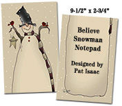 Believe Snowman Notepad