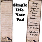 Simple Life Notepad