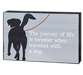 "Journey of Life Dog Box Sign, 8.5"" x 5.5"""
