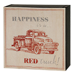 Happiness is a Red Truck Sign