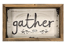 Gather Box Sign