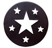 *Star Candle Jar Lid