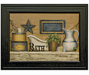 Buttermilk Bath Framed Print