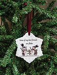 Ceramic Snowflake Friends Ornament