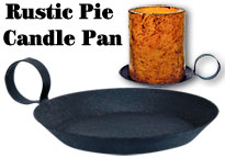 Pie Pan Candle Holder - Large