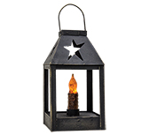 Star Iron Lantern w/ Taper