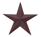 Burgundy Barn Star- 48""