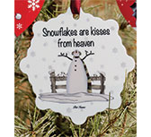 Snowflakes Kisses Ornament