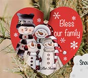 Bless our Family Heart Ornament