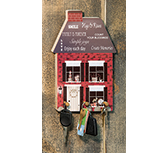 Family House Key Holder, 6.5x10