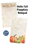 Hello Fall Pumpkins Notepad