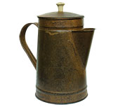 Rusty Coffee Pot, 8""