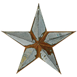 Rusty Galvanized Star - 12""