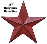 Burgundy Barn Star - 18""