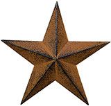Rust & Black Barn Star, 3.5""